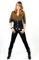 фасон джинсов с высокой талией