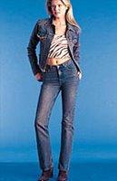 джинсы с высокой талиеей