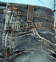 отделка джинс