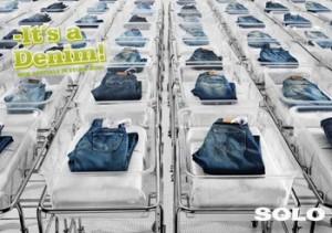рождение джинсов креативная реклама джинсов SOLO