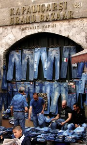 поддельные джинсы