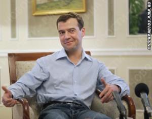 Президент Медведев в джинсах