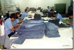контроль качества шитья  джинс