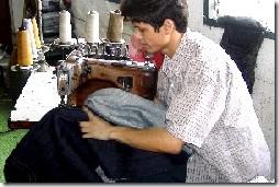 боковой шов на джинсах