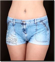 шорты с джинсовыми принтами