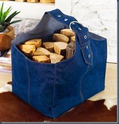 джинсовая сумка для камина