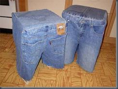 джинсовый табурет