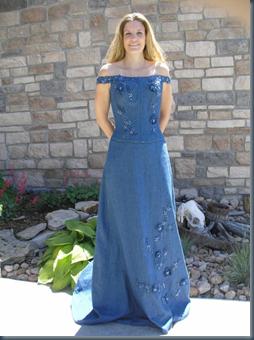 Свадебное платье из денима