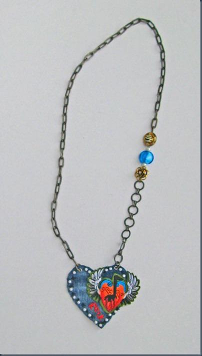 джинсовое ожерелье