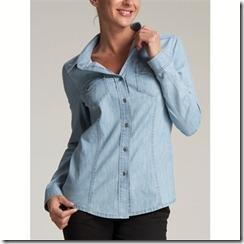 женская джинсовая рубашака