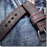 джинсовый ремешок для часов