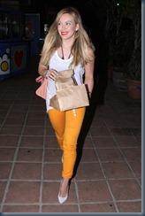 яркие желтые джинсы-скини