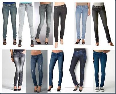 джинсы скини и обвь на каблуке