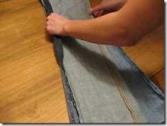заузить джинсы