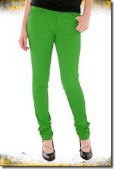 яркие зеленые джинсы