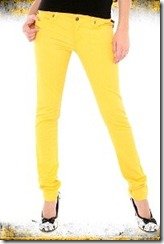 яркие желтые джинсы