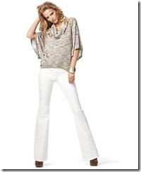 белые джинсы зимой
