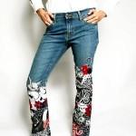 аппликация на джинсах
