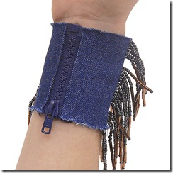 джинсовый браслет