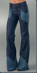 джинсы клеши 80-х