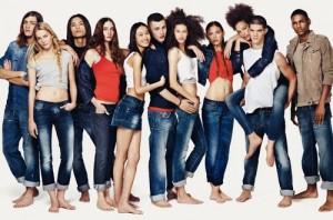 молодежный джинсовый магазин