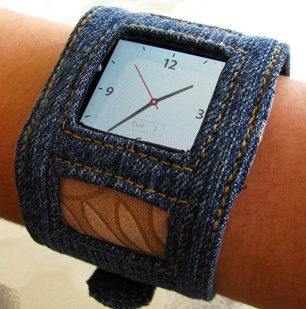 Как сшить часы из джинса