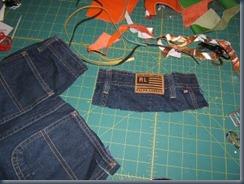 Делаем простой джинсовый браслет-манжет