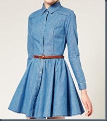 джинсовое платье на выпускном