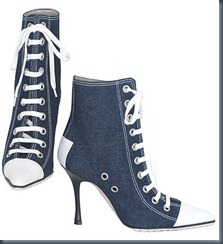 Обувь из денима