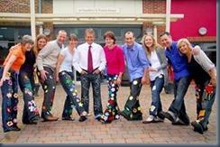 джинсы на корпоративном празнике