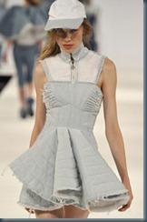 Джинсовое выпускное платье