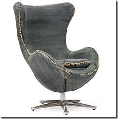 джинсовое кресло