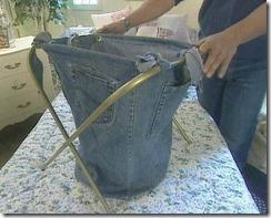 корзина для белья из джинсов