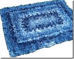джинсовый коврик в ванной