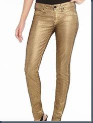 Джинсы с зотой ниткой Gold Denim Jeans