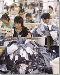 производство джинсов в Китае