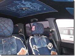 джинсовый салон автомобиля