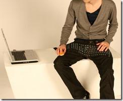 Джинсы с клавиатурой
