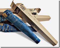упаковка джинсов Lee