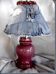 Абажур из старых джинсов