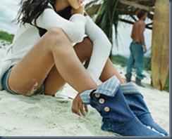 джинсовые угги летом