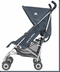 Джинсовая детская коляска maclaren