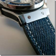 джинсовые наручные часы Hublot