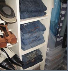 джинсы в гардеробной
