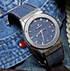джинсовые часы hublot