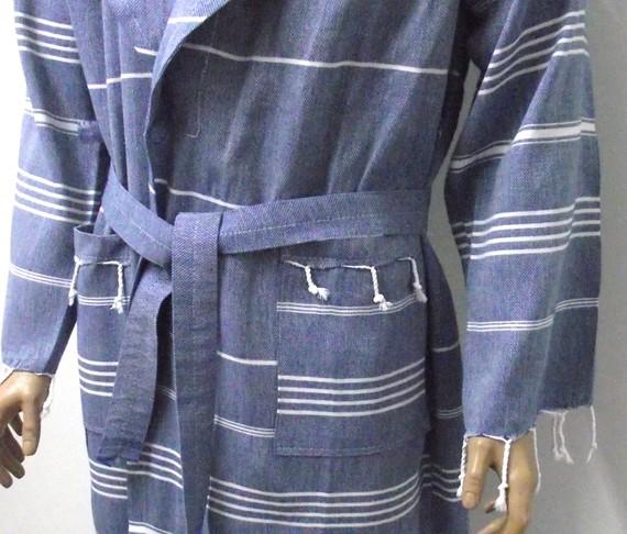 джинсовый халат