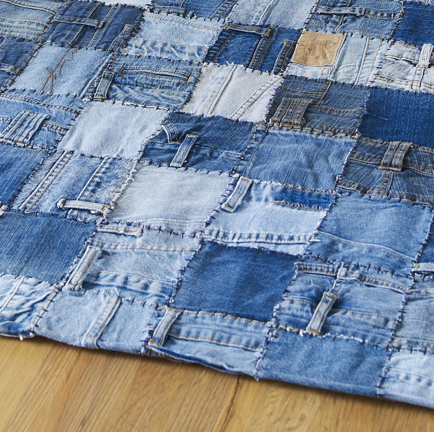 джинсовый ковер