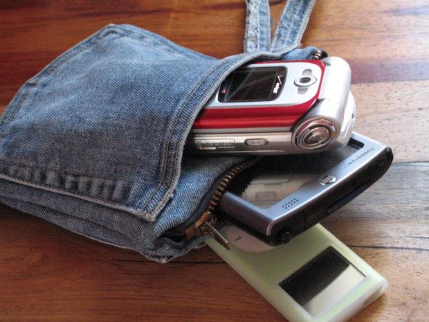 сумочка сделать из старых джинсов