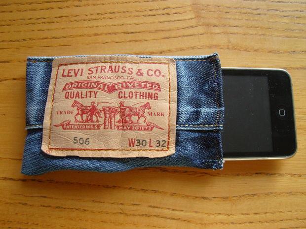 чехол для телефона сделать из старых джинсов