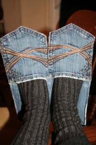 тапки сделать из старых джинсов